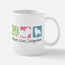 Peace, Love, Schipperkes Mug