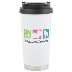 Peace, Love, Schipperkes Travel Mug