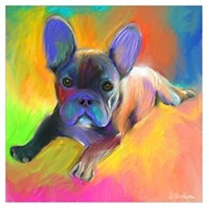 "French bulldog 1 (16x16"") Poster"