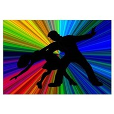Dazzling Dance Silhouettes Poster