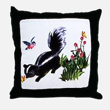 Cute Baby Skunk Throw Pillow