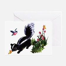 Cute Baby Skunk Greeting Card