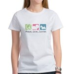 Peace, Love, Scotties Women's T-Shirt
