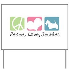 Peace, Love, Scotties Yard Sign