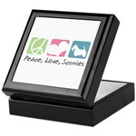Peace, Love, Scotties Keepsake Box