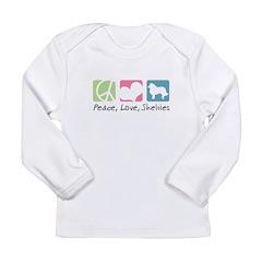 Peace, Love, Shelties Long Sleeve Infant T-Shirt