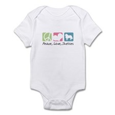Peace, Love, Shelties Infant Bodysuit