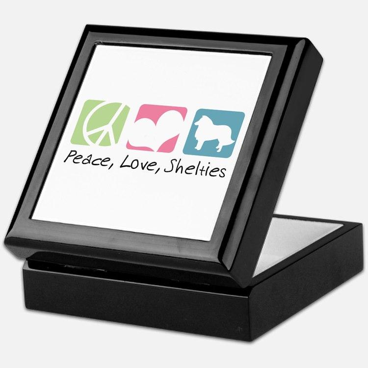 Peace, Love, Shelties Keepsake Box