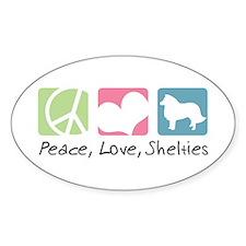 Peace, Love, Shelties Bumper Stickers