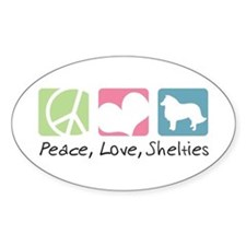 Peace, Love, Shelties Decal