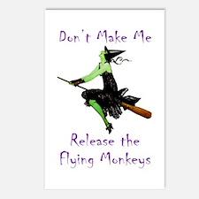 Don't Make Me Release The Flying Monkeys Postcards