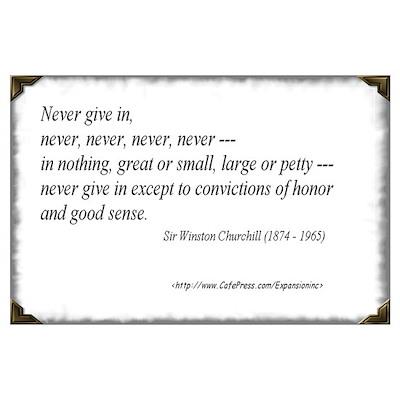 (Never - Churchill - A) Poster