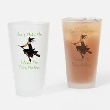 Don't Make Me Release The Flying Mo Drinking Glass