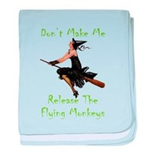 Don't Make Me Release The Flying Monk baby blanket