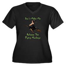 Don't Make M Women's Plus Size V-Neck Dark T-Shirt