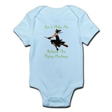Don't Make Me Release The Flying M Infant Bodysuit