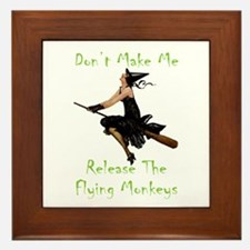 Don't Make Me Release The Flying Monke Framed Tile