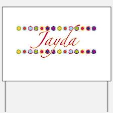 Jayda with Flowers Yard Sign
