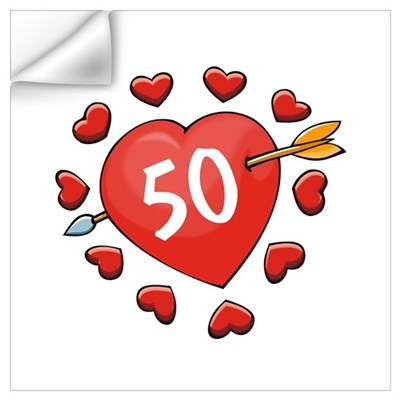 50th Valentine Wall Decal