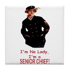 Lady? No, Senior Chief Tile Coaster