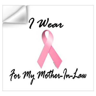 I Wear Pink For My Mother-In-Law 1.2 P Wall Decal