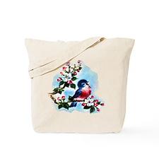 Vintage Bluebird Art Tote Bag