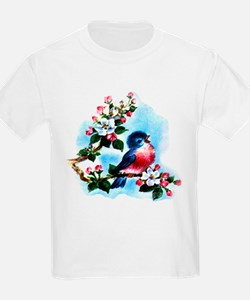 Vintage Bluebird Art T-Shirt