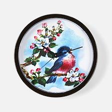 Vintage Bluebird Art Wall Clock
