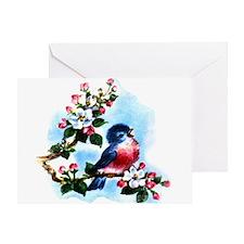 Vintage Bluebird Art Greeting Card