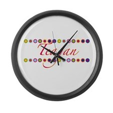 Teagan with Flowers Large Wall Clock