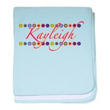 Kayleigh with Flowers baby blanket