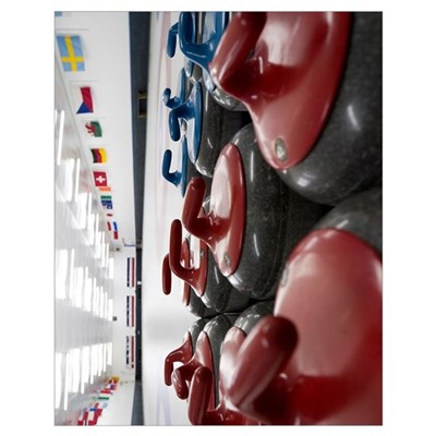 Curling Club Stones 11x14 Poster