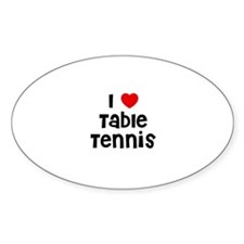 I * Table Tennis Oval Decal