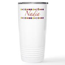 Nadia with Flowers Travel Mug