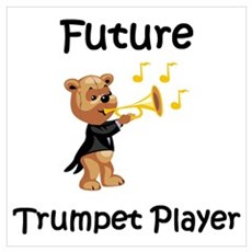 Future Trumpet Player Framed Print