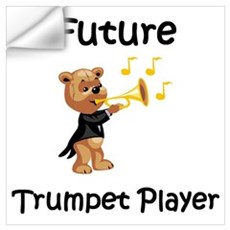 Future Trumpet Player Wall Decal