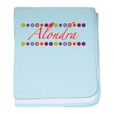 Alondra with Flowers baby blanket