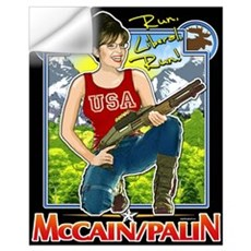 Run Liberal Run - McCain Palin Wall Decal