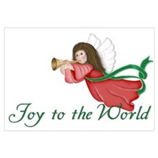 Joy to the World Angel 2 Canvas Art