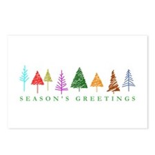 Christmas Trees Postcards (Package of 8)