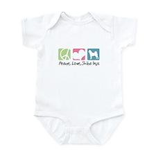 Peace, Love, Shiba Inus Infant Bodysuit