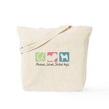 Peace, Love, Shiba Inus Tote Bag