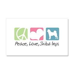 Peace, Love, Shiba Inus Car Magnet 20 x 12
