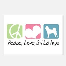 Peace, Love, Shiba Inus Postcards (Package of 8)