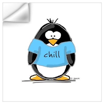 Chill penguin Wall Decal