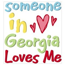 Someone in Georgia Loves Me Poster