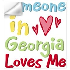 Someone in Georgia Loves Me Wall Decal