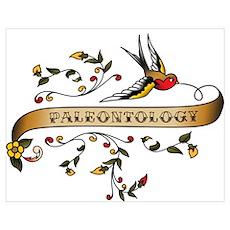 Paleontology Scroll Poster