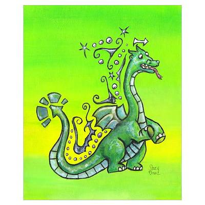 Sprite the dragon, 11 x17 Print Poster