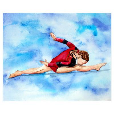 Gymnastics Splits Poster